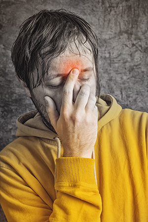 A Man Needs Treatment from a NJ Sinus Center